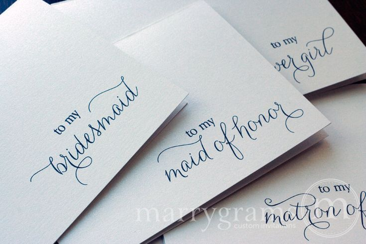 To My Bridesmaid, Maid of Honor, Wedding party... Wedding Thank You Cards. $12.50, via Etsy.