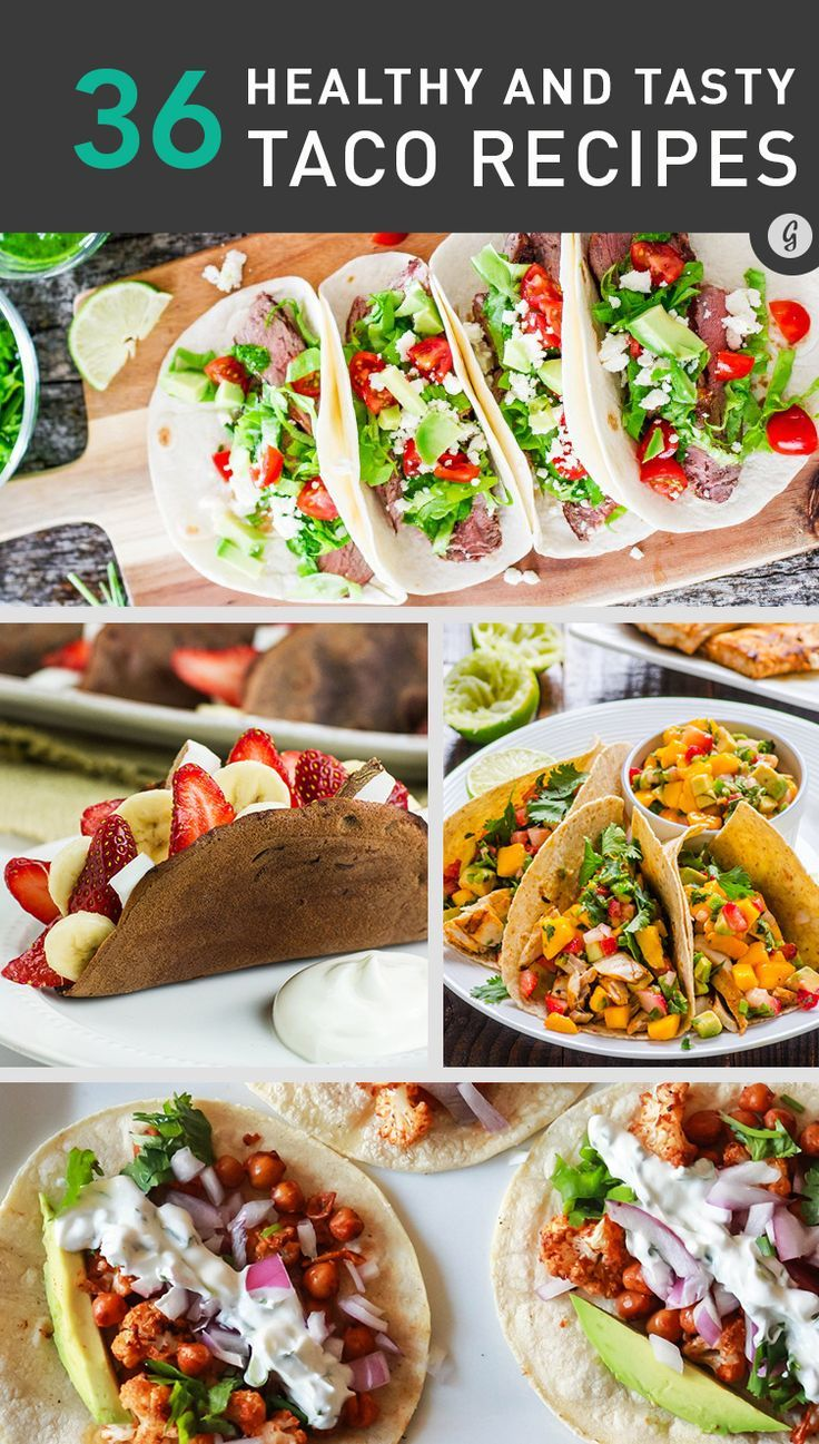 36 Healthy Taco Recipes You Need to Try (Right Now) — Let's taco 'bout tasty -- and healthy! These awesome tacos are perfect for your next summer BBQ. #tacos #recipes #healthy #greatist