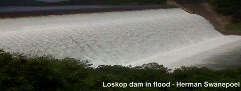 Loskop Dam overflowing