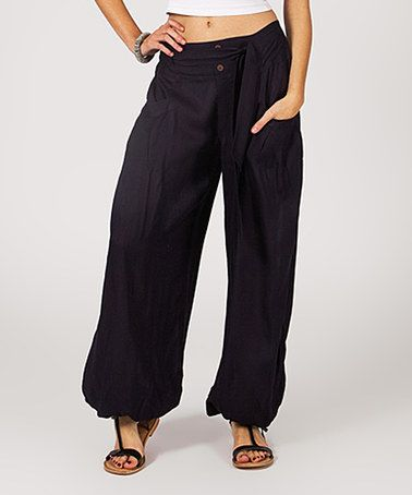 This Charcoal Button Harem Pants is perfect! #zulilyfinds