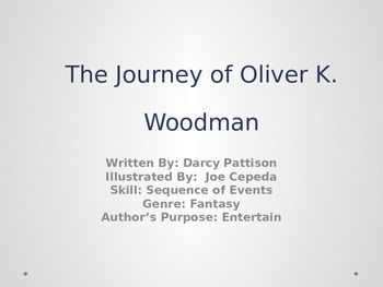 """This is a power point centered around the vocabulary words, spelling words, and comprehension skills associated with lesson 23 (The Journey of Oliver K. Woodman) from Journey's Common Core. Includes pictures (sometimes sound effects), for each vocabulary word and a """"Guess the Word Game"""" that will test you students knowledge on each word. My students really love these power points. It gets their attention and has really helped my students with their vocabulary knowledge/retention ..."""