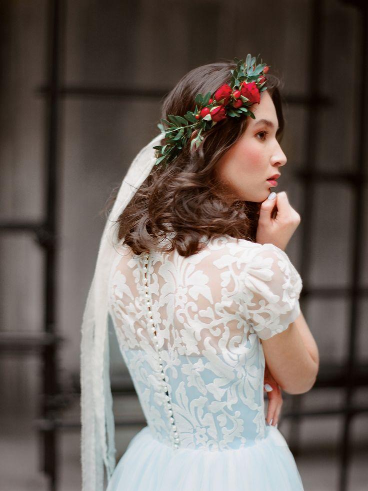 Романтичное голубое свадебное платье Илария (Миламира)