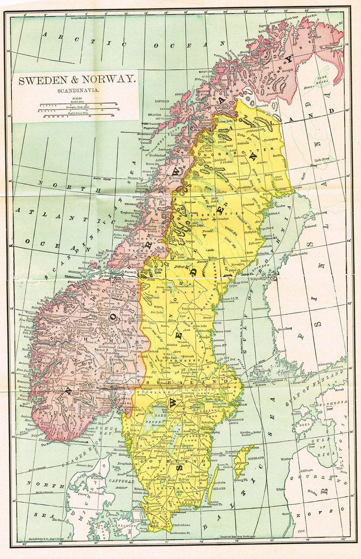 The Best Sweden Map Ideas On Pinterest Stockholm Stockholm - Norway map detailed