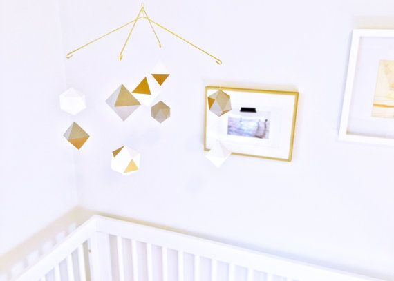 Multi Layered Geometric Mobile Baby Mobile Nursery Mobile