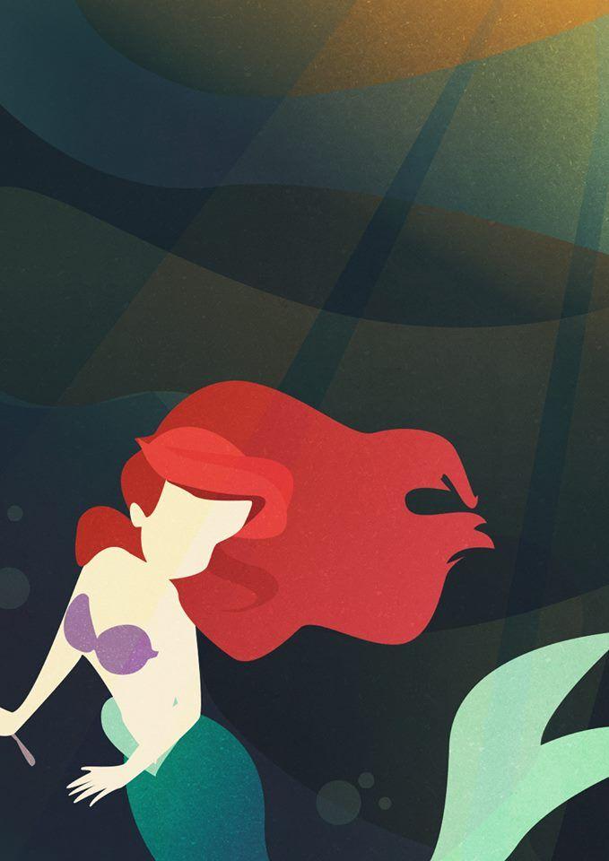 7 best disney love images on pinterest backgrounds disney disney little mermaid illustration voltagebd Images