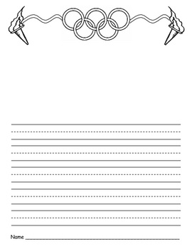 Use this writing paper to encourage your students to write about the Olympics!  Students can write about their favorite Olympic sport, their favori...