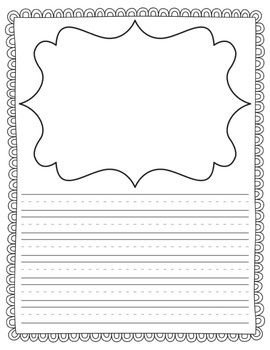 Huge packet of writing templates! (with and without handwriting lines!)