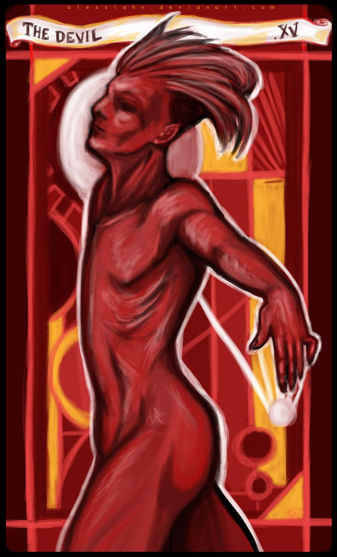 Alessia H.V., 'XV. The Devil', digital, 2015.