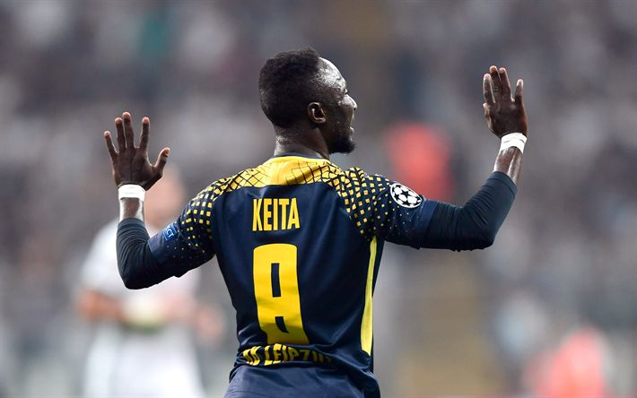 Download wallpapers Naby Keita, 4k, RB Leipzig, footballers, FC Leipzig, soccer, Bundesliga, Keita