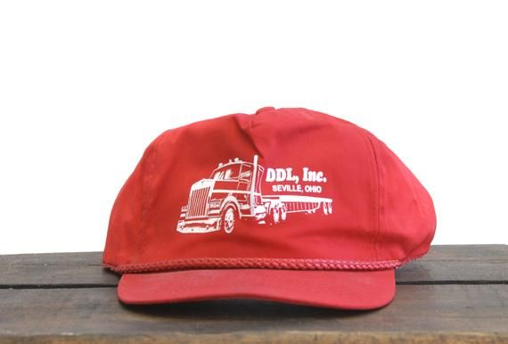 Vintage Trucker Hat Strapback Hat Baseball Cap Ddl Inc Seville Etsy In 2021 Vintage Trucker Hats Strapback Hats Baseball Hats