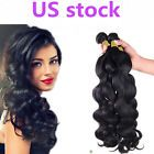 US STOCK 100% Brazilian Virgin Remy hair Body Wave Human Hair Weave Extensions  #ad