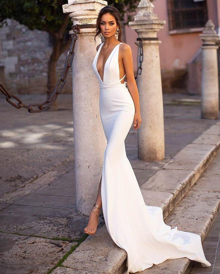 Sexy Simple Wedding Dress