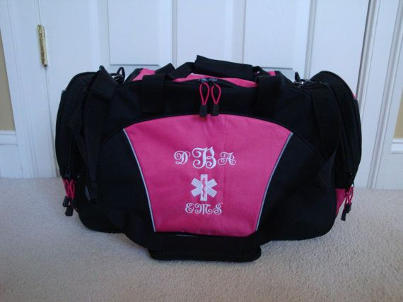 Duffel Bag Personalized Star of Life Paramedic EMT by HTsCreations   42 00 WITH MY INITIALS     O   M   G