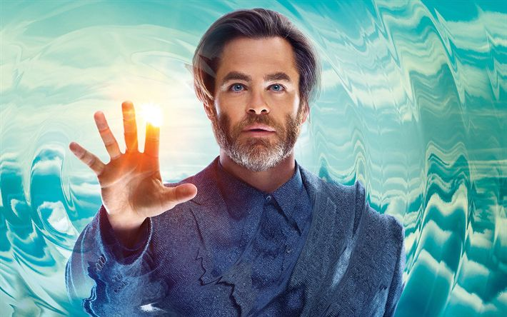 Download wallpapers A Wrinkle in Time, 2018, Chris Pine, Dr Alex Murry, new films, poster, promo materials