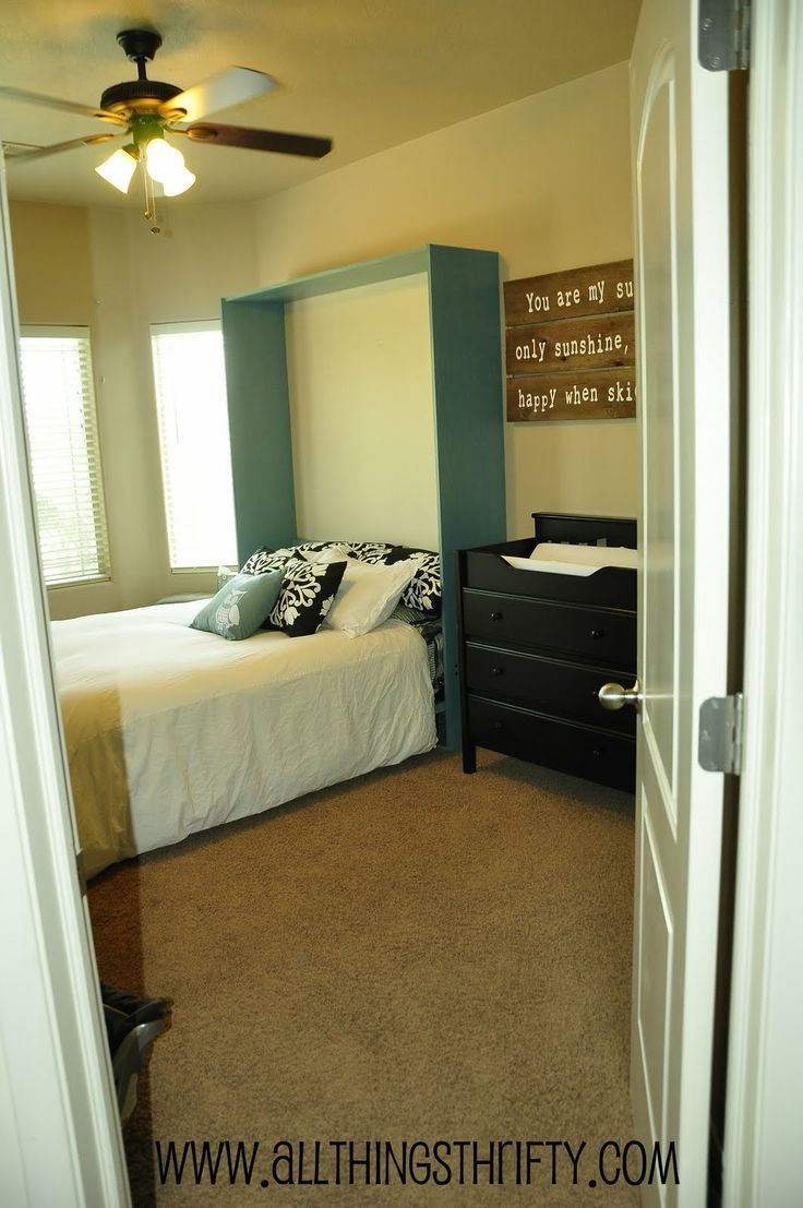 All Things Thrifty Home Accessories and Decor: The Wall Bed is INSTALLED,  from Wilding