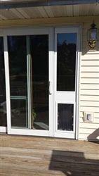 exterior back door with dog door. maxseal patio pet door insert - dual pane glass exterior back with dog