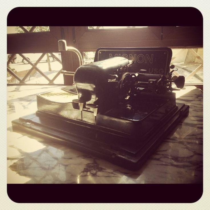 Hotel La Salve - Torrijos (Toledo) - Maquina de escribir (1912)