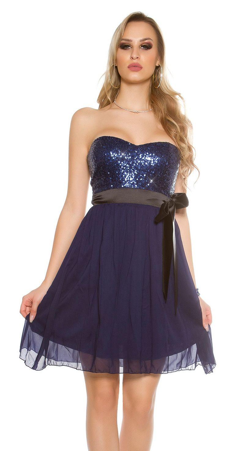 Chiffon Bandeau Party Dress - Bandeau Short Dresses Online.