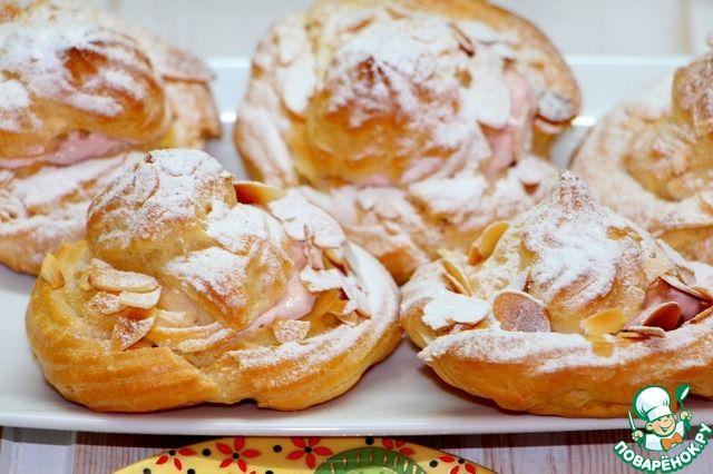 Заварное пирожное с вишнево-творожным кремом ингредиенты