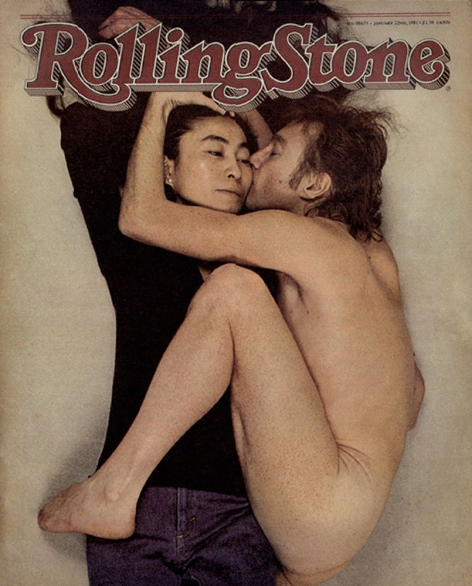 This of course could not be missed  John & Yoko by Annie Leibovitz