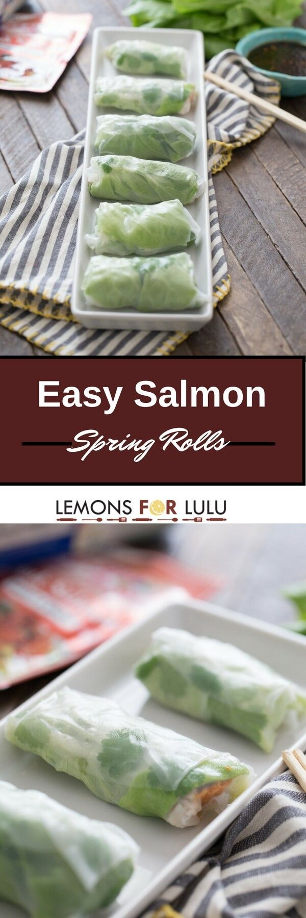 Spring rolls are so light and tasty. These salmon filled rolls are a snap to prepare. You'll find yourself making these spring rolls all the time!