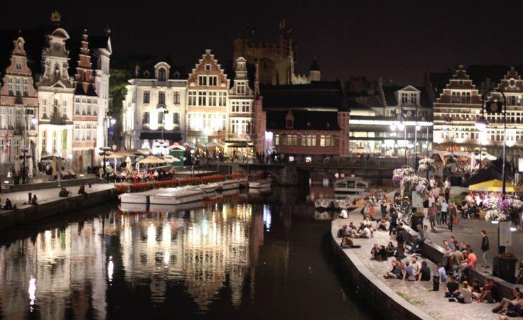 Gent Graslei historische binnenstad Leie Vlaanderen België