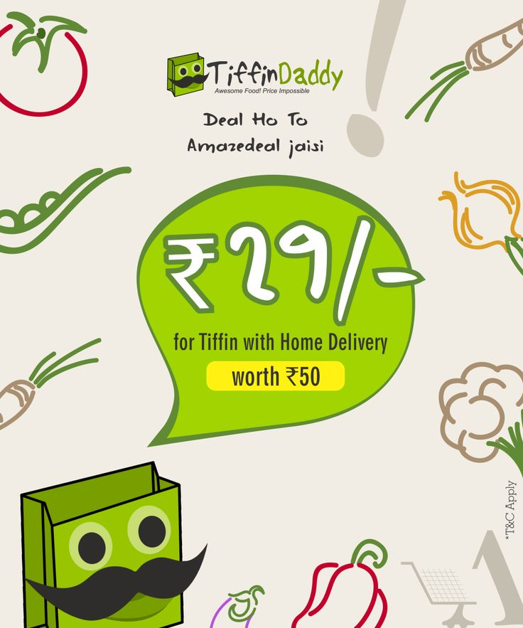 Save 40% at Veg #Lunch #Tiffin service with free #home delivery exclusively from #TiffinDaddy  Grab it only at - www.amazedeal.in  #AmazeDeal #Food #Drinks #Deals #offers #Chandigarh #mohali #Panchkula #AmazingSavings #Daddy #Veg #Lunch