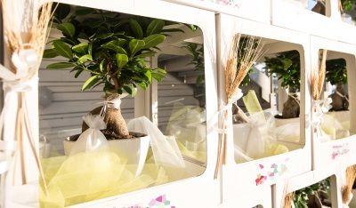 Bomboniere eco chic per un matrimonio in spiaggia.