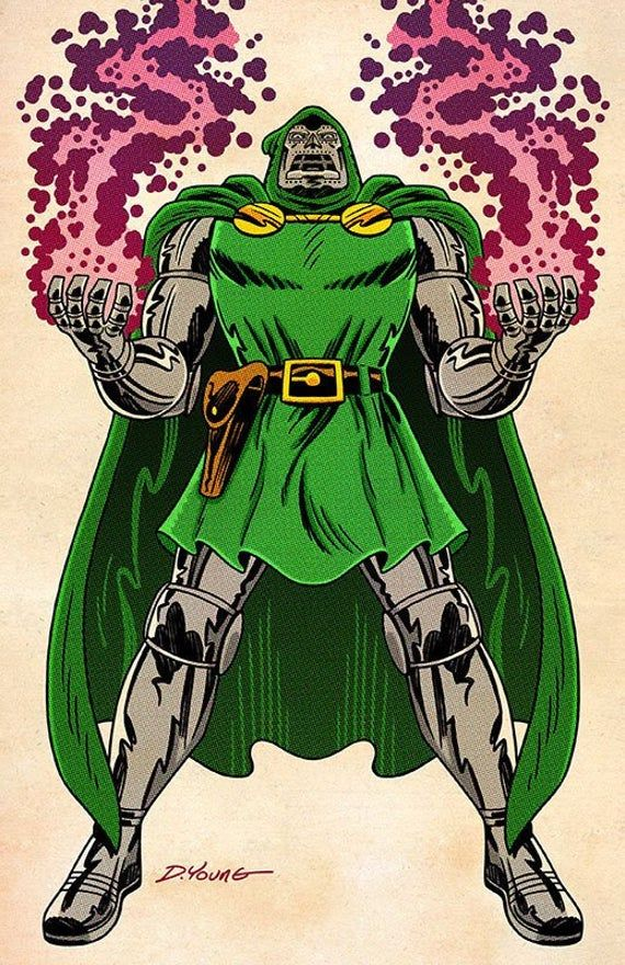 Dr Doom Color 11 X 17 Print By Darryl Young Etsy In 2020 Doom Print 11x17
