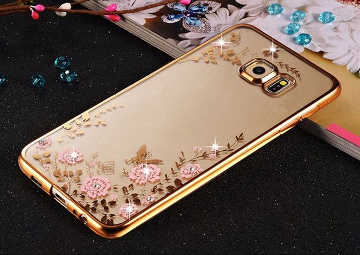 Rhinestones Soft TPU Plating Cases For Samsung Galaxy A3 A5 2016 A7 Galaxy J5 J1 J3 Case Samsung Galaxy S7 edge S6 S3 Case