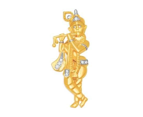 Lord krishna diamond pendant from KISNA diamond jewellery. #diamond #jewelry