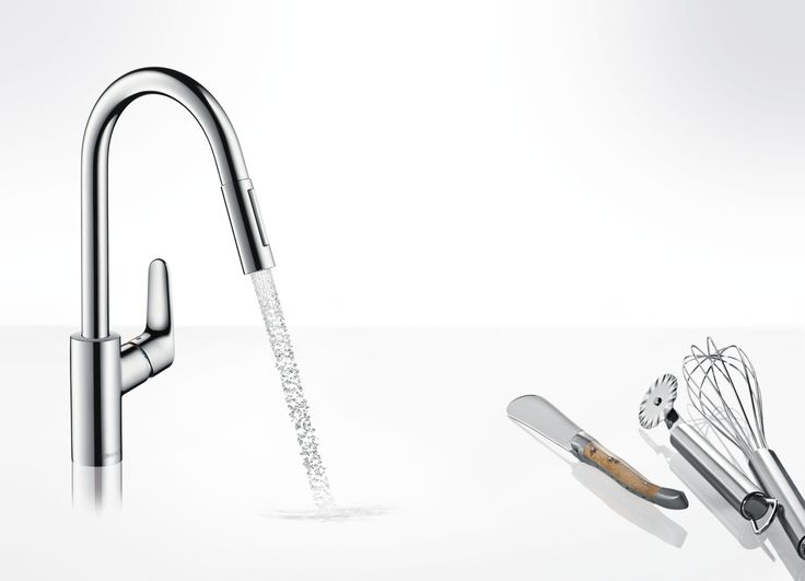 Single lever #kitchen #mixer with two jet types #Hansgrohe #Focus
