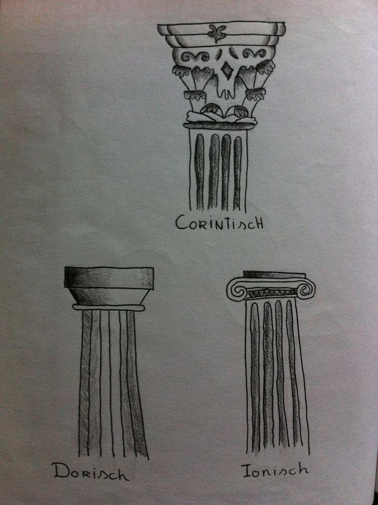 Klas 5, De Grieken, de drie soorten palen