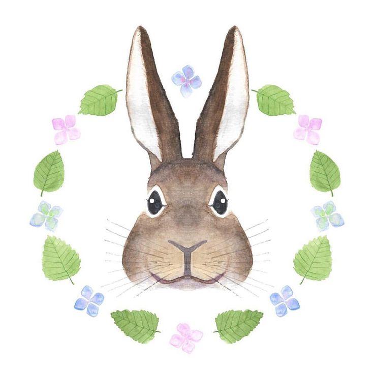 Le retour du lapin ... ✨👰🍃🤵🌸 #watercolor #aquarelle #rabbit #lapin #watercoloranimal #wedding #mariage #leaves #flowers #floralwreath…