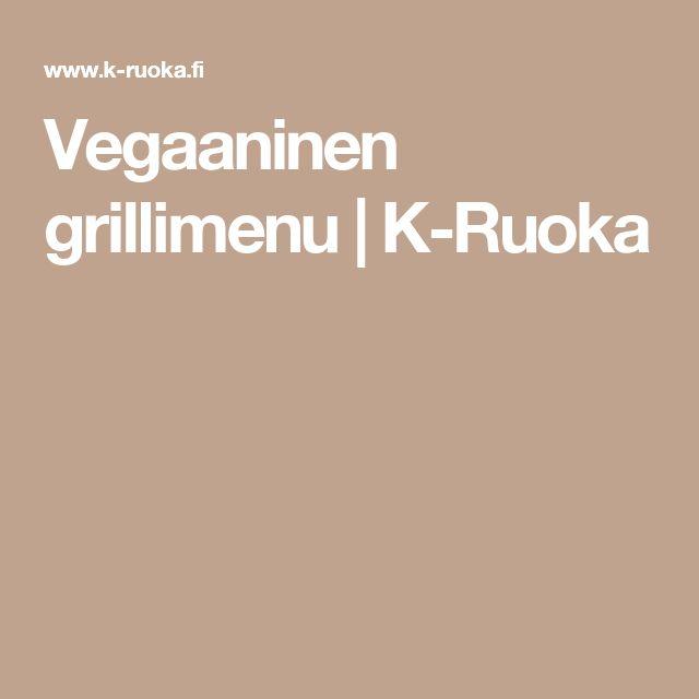 Vegaaninen grillimenu | K-Ruoka
