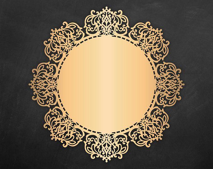 Ornamental Doily Cricut / Silhouette template, vector Cutting File ...