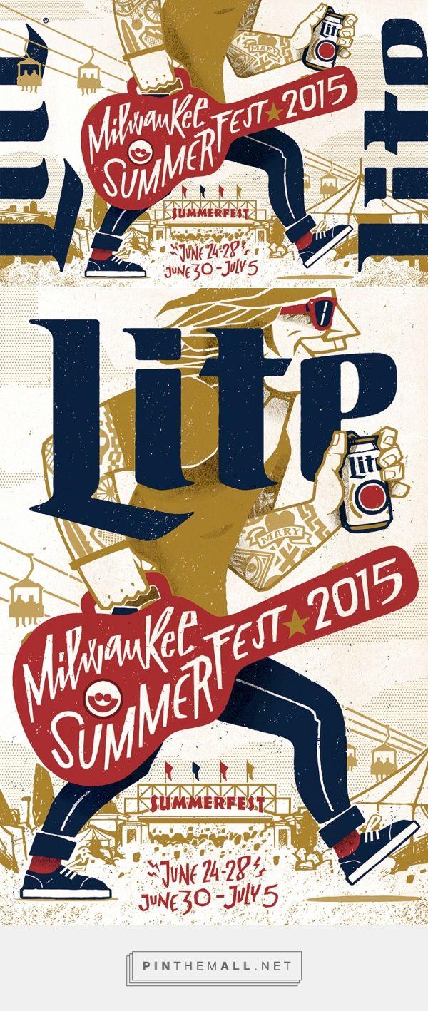 Miller Lite Summerfest Milwaukee 2015 on Behance - created via https://pinthemall.net