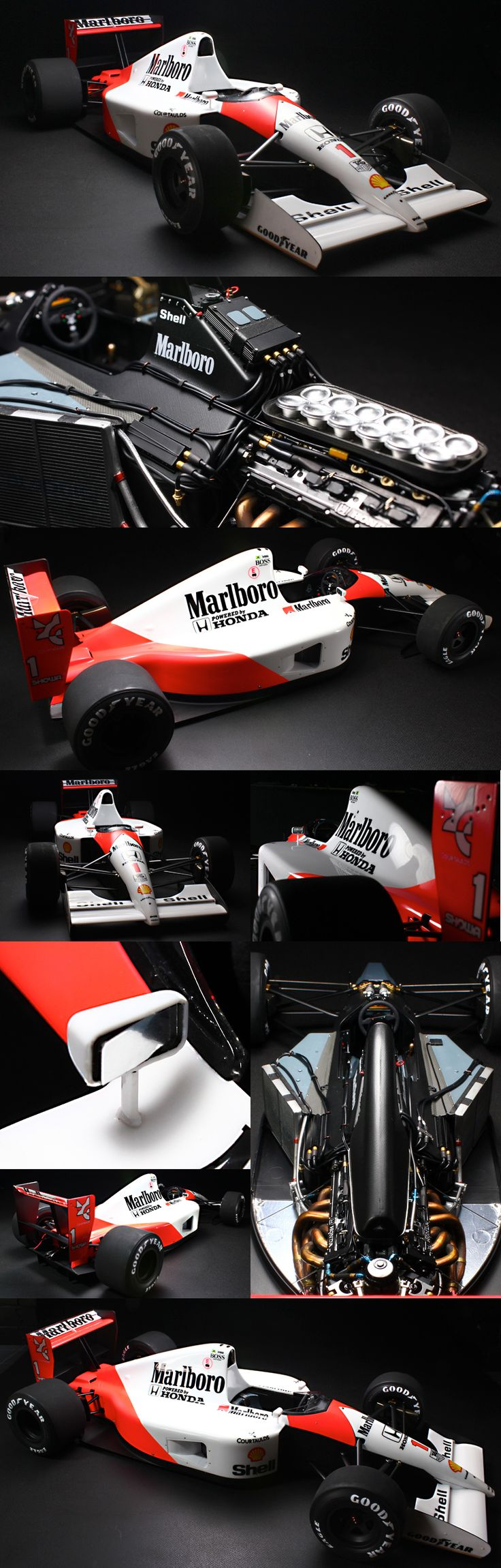 Tamiya 1/12 McLaren MP4/6 Honda, if it didn't say 1/12th you would think this is full size