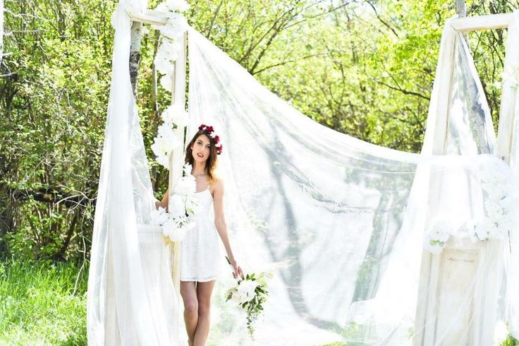 Bohemian chic outdoor wedding background.