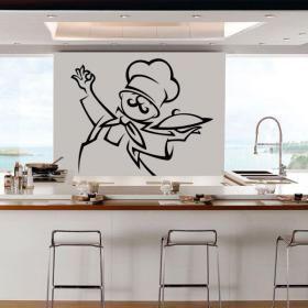 Las 25 mejores ideas sobre paredes de pizarra de cocina for Vinilos pared cocina