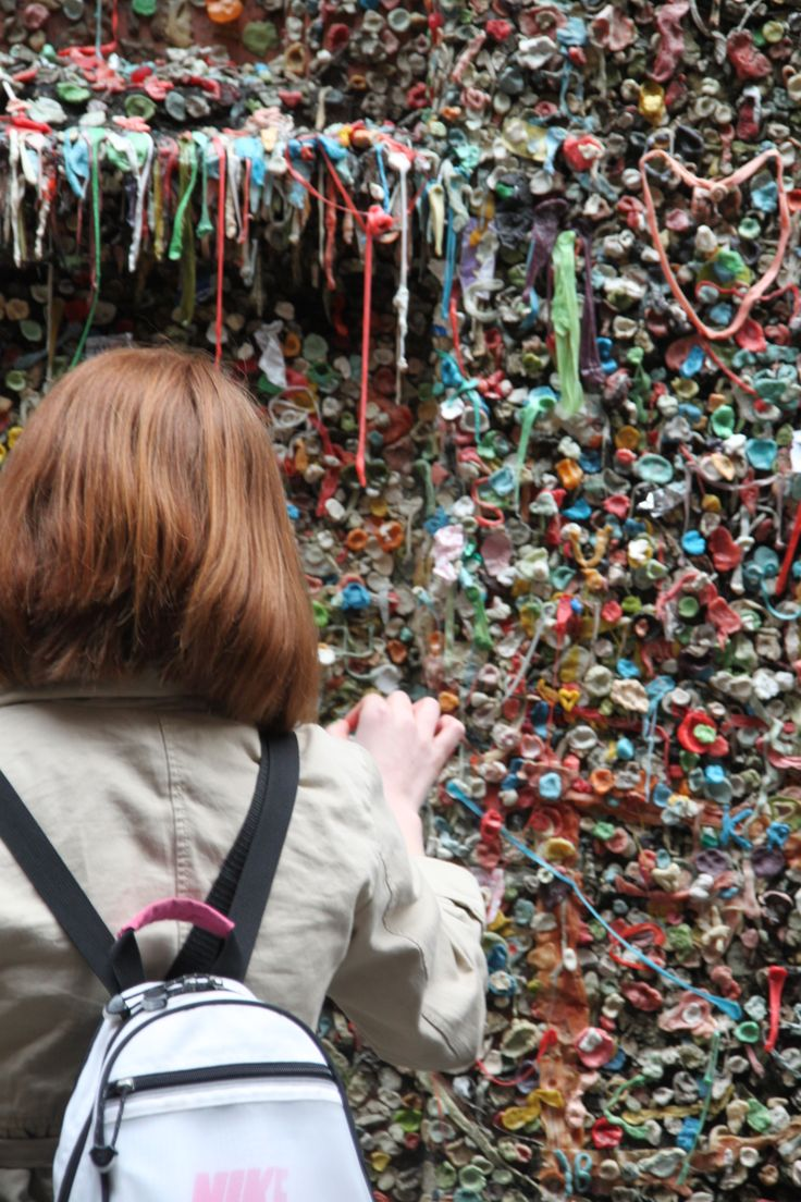 Gum Wall in Post Alley, Seattle, WA