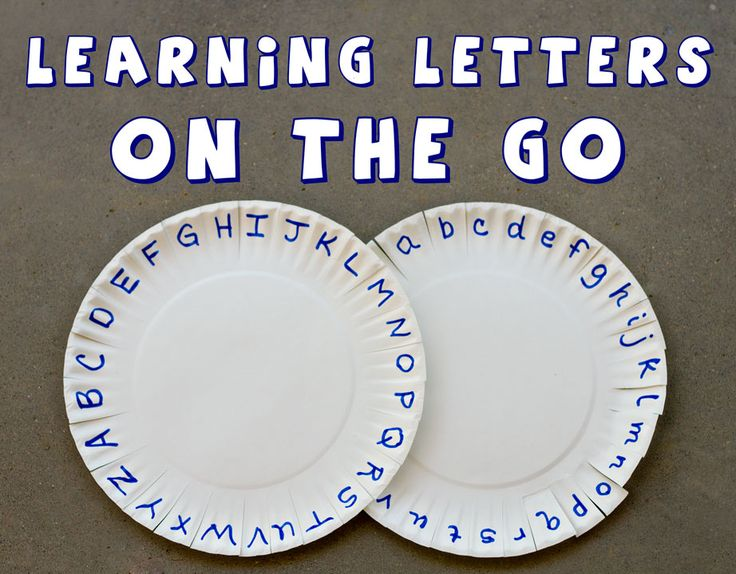 Paper plate letter activity- find letters, sight words, numbers in your surroundings