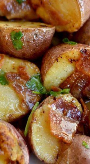 Warm Bacon Honey Mustard Potato Salad
