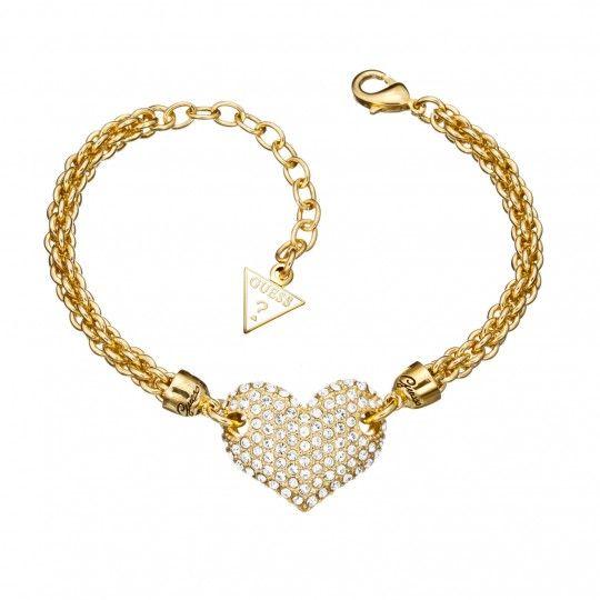 Guess Jewellery Armband UBB51406   Doublé armband - gezet met zirkonia - verstelbaar in lengte! Gratis verzonden & ingepakt en geleverd in originele verpakking!