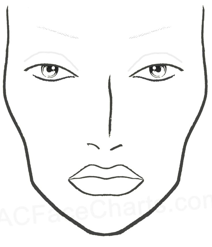 Blank Mac Face Charts Printable  Makeup     Face