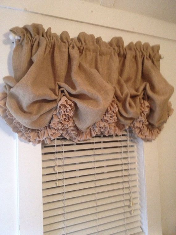Hey, I found this really awesome Etsy listing at https://www.etsy.com/listing/173554528/burlap-balloon-curtain-with-double