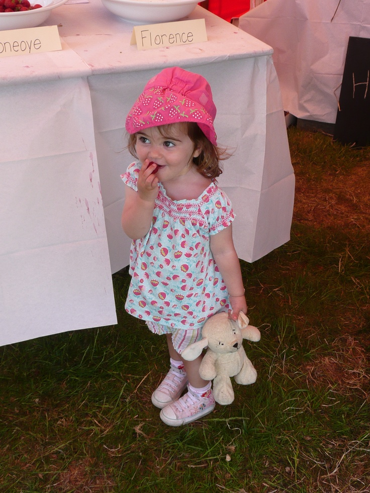 Millie at The Strawberry Fair River Cottage HQ