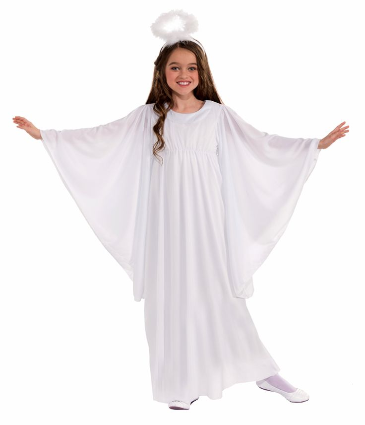 An angelic spirit will float into the room looking heaven sent in our Angel Kids Costume. Girls can take the form of a messenger of hope and joy for all mankind during dress-up play. Our kids Angel Costume includes a full-length white dress with draping bell sleeves and a marabou feather halo headband. This religious and spiritual icon can take to the stage at the next Christmas nativity in our Angel Costume for kids.