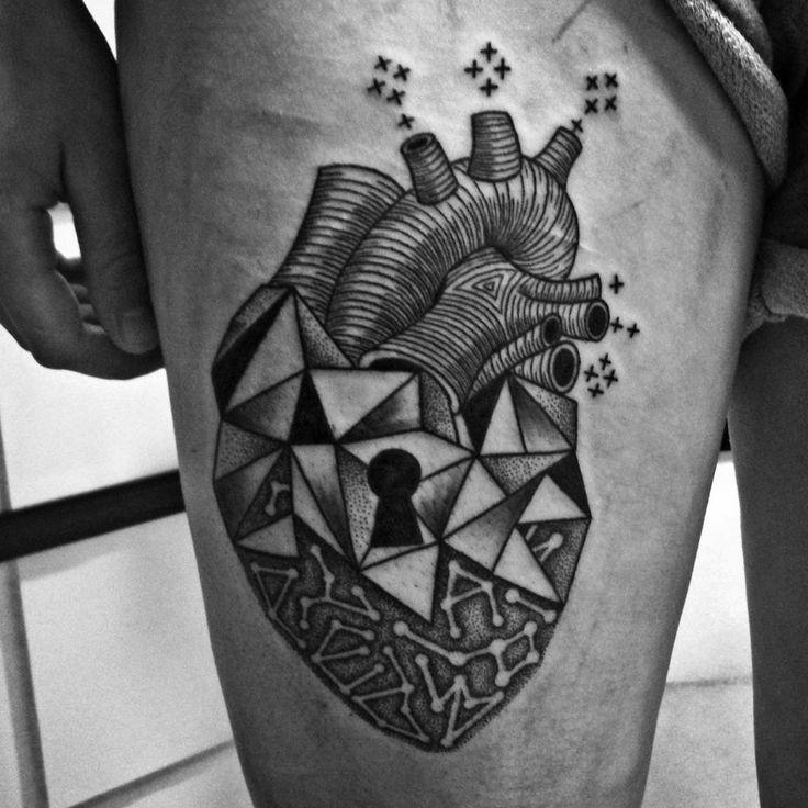 Heart Lock Tattoo