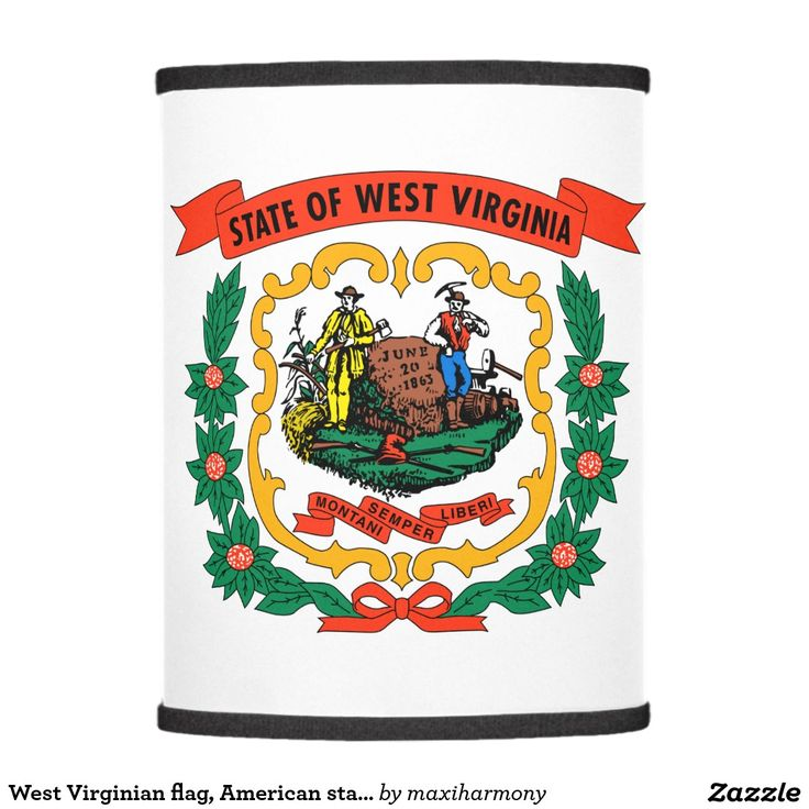 West Virginian flag, American state flag Lamp Shade